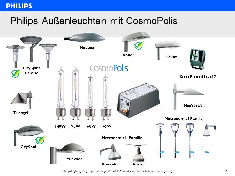 Philips Außenleuchten mit CosmoPolis