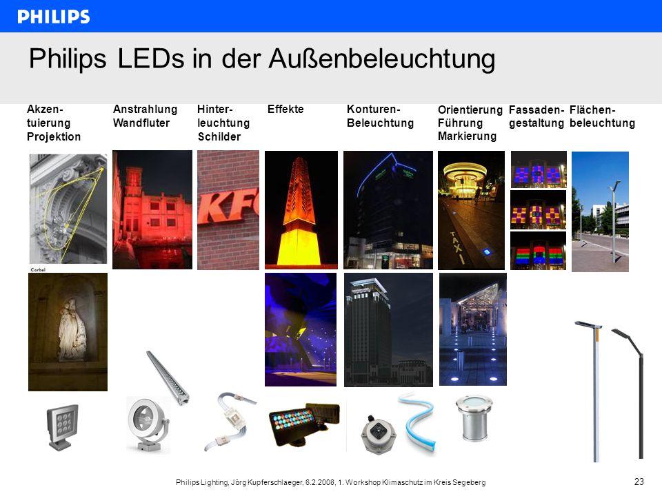 Philips LEDs in der Außenbeleuchtung