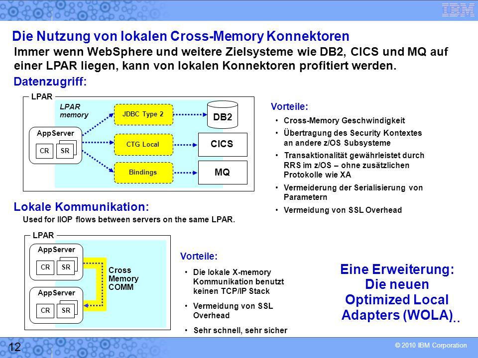 Die Nutzung von lokalen Cross-Memory Konnektoren
