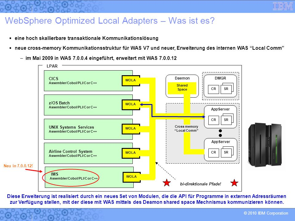 WebSphere Optimized Local Adapters – Was ist es
