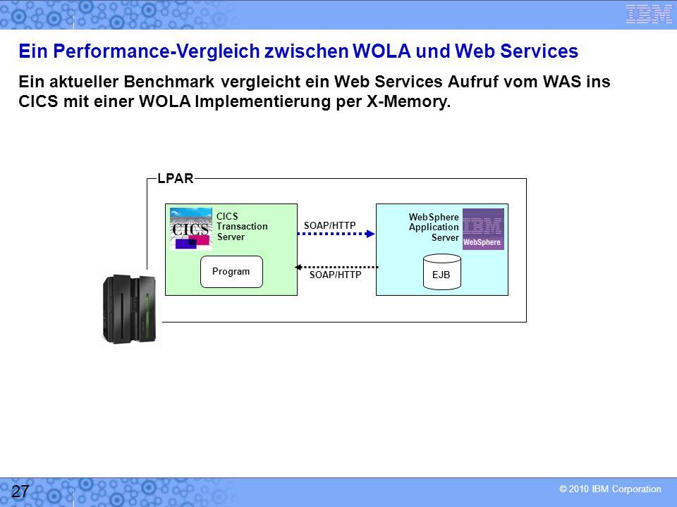 Ein Performance-Vergleich zwischen WOLA und Web Services