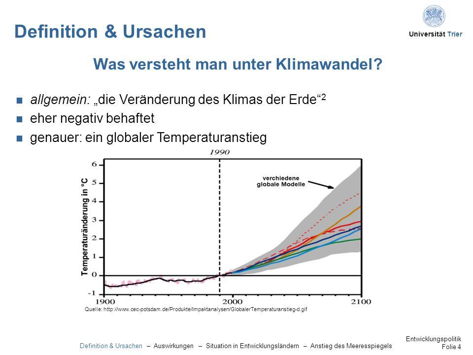 Was versteht man unter Klimawandel