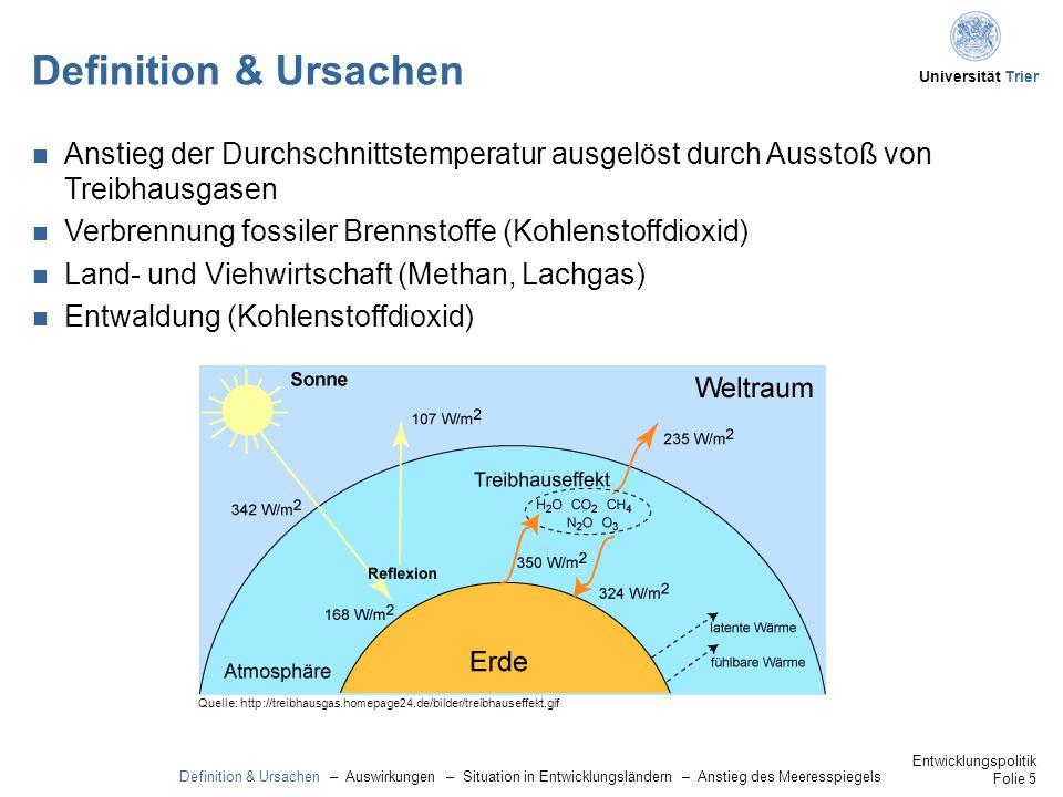 Definition & Ursachen Anstieg der Durchschnittstemperatur ausgelöst durch Ausstoß von Treibhausgasen.