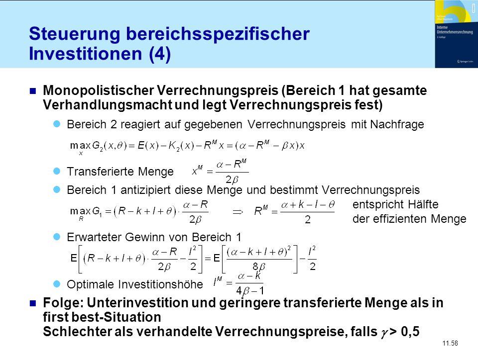 Steuerung bereichsspezifischer Investitionen (4)