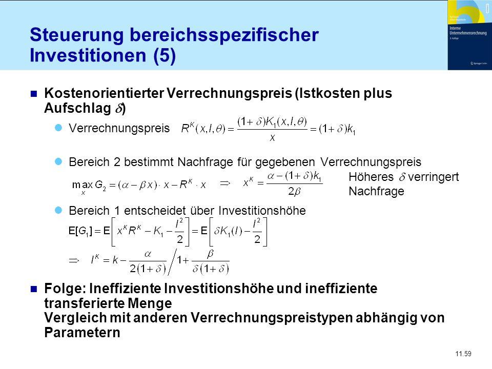 Steuerung bereichsspezifischer Investitionen (5)