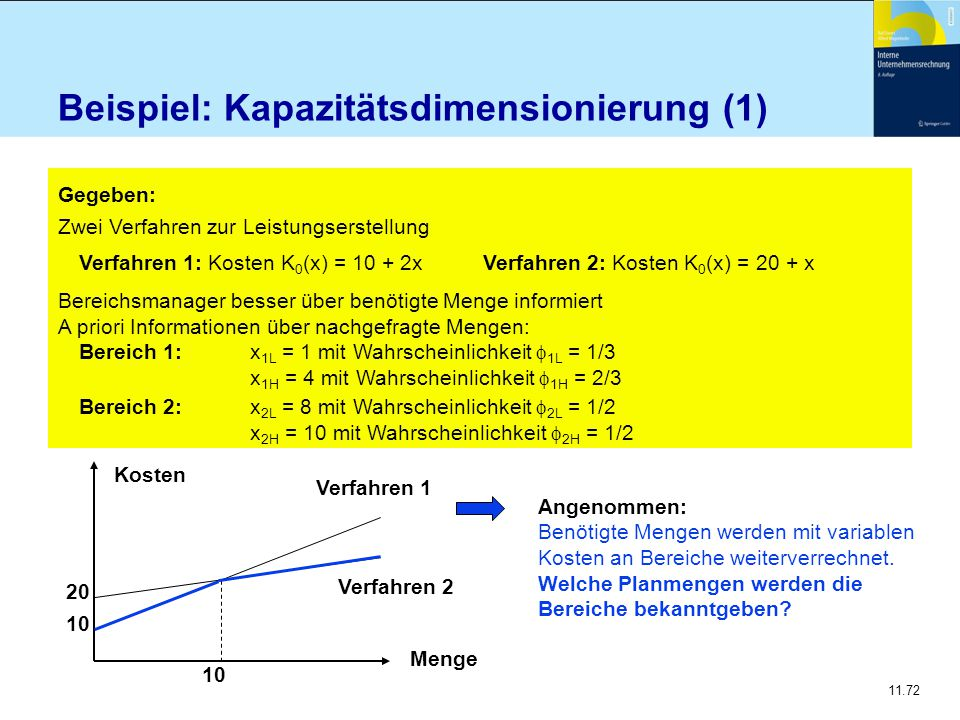 Beispiel: Kapazitätsdimensionierung (1)