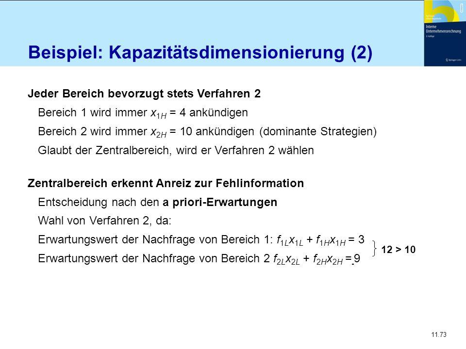 Beispiel: Kapazitätsdimensionierung (2)