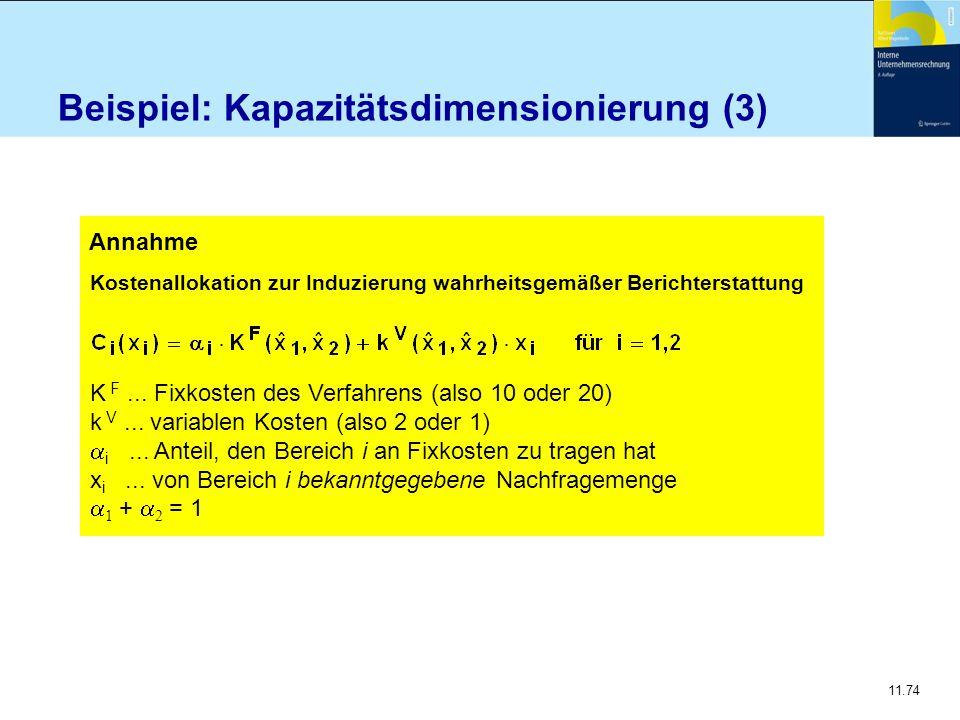 Beispiel: Kapazitätsdimensionierung (3)