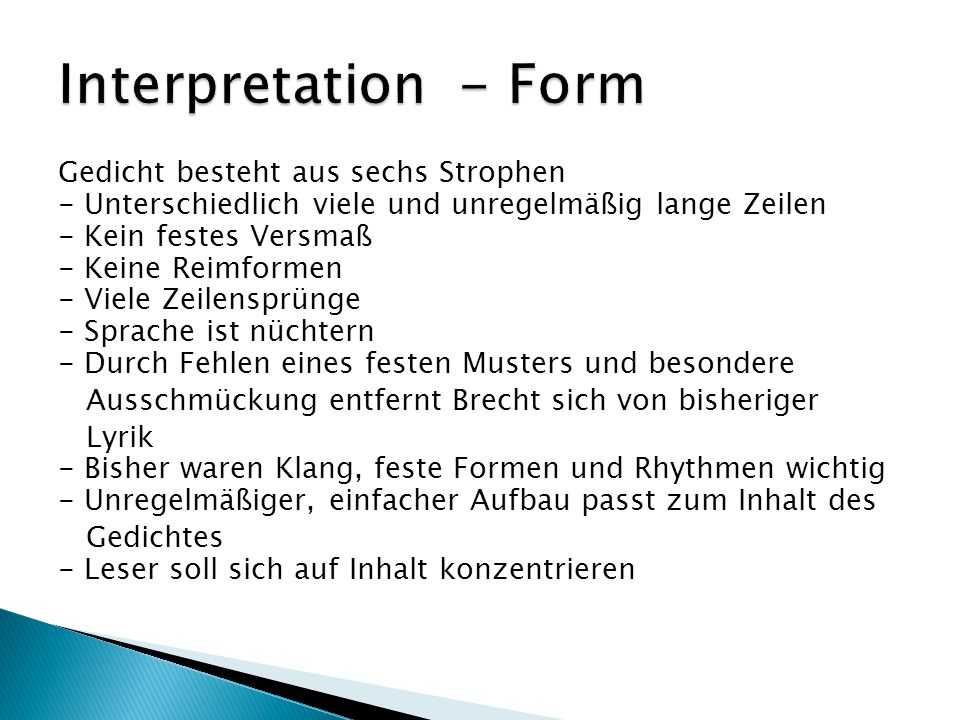Interpretation - Form