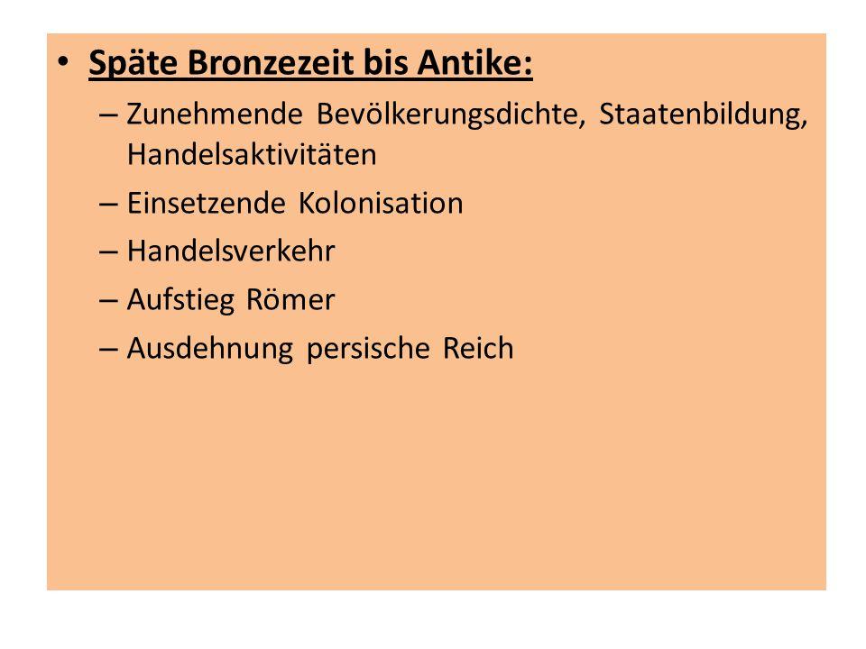 Späte Bronzezeit bis Antike: