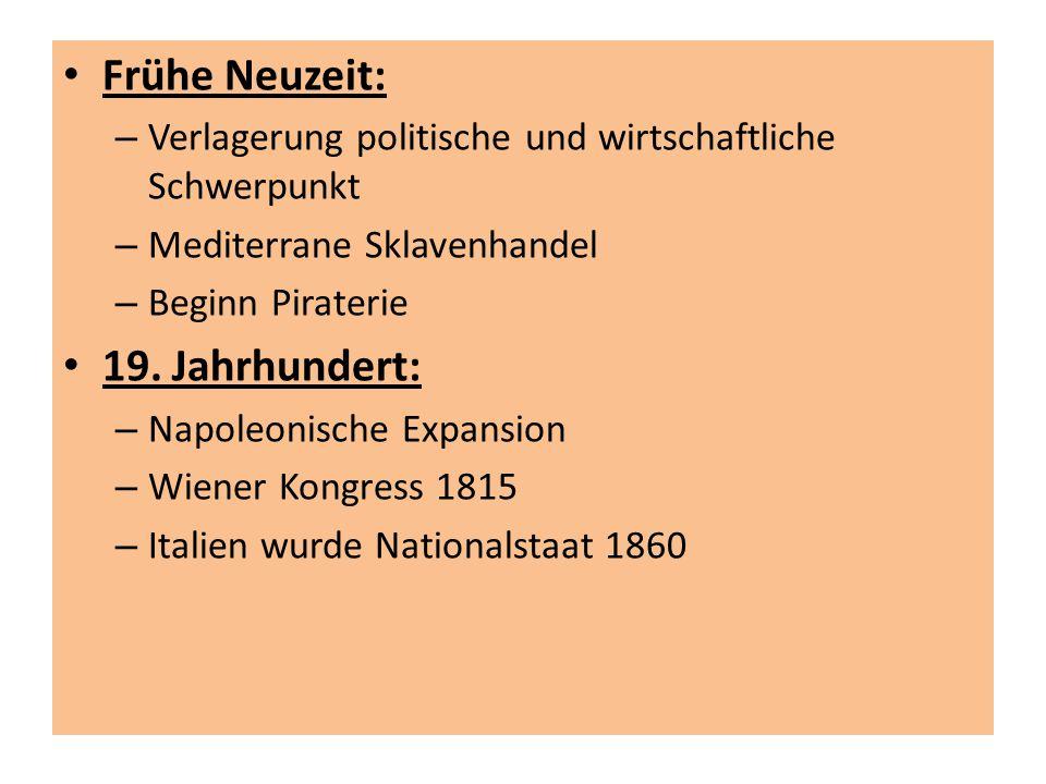 Frühe Neuzeit: 19. Jahrhundert: