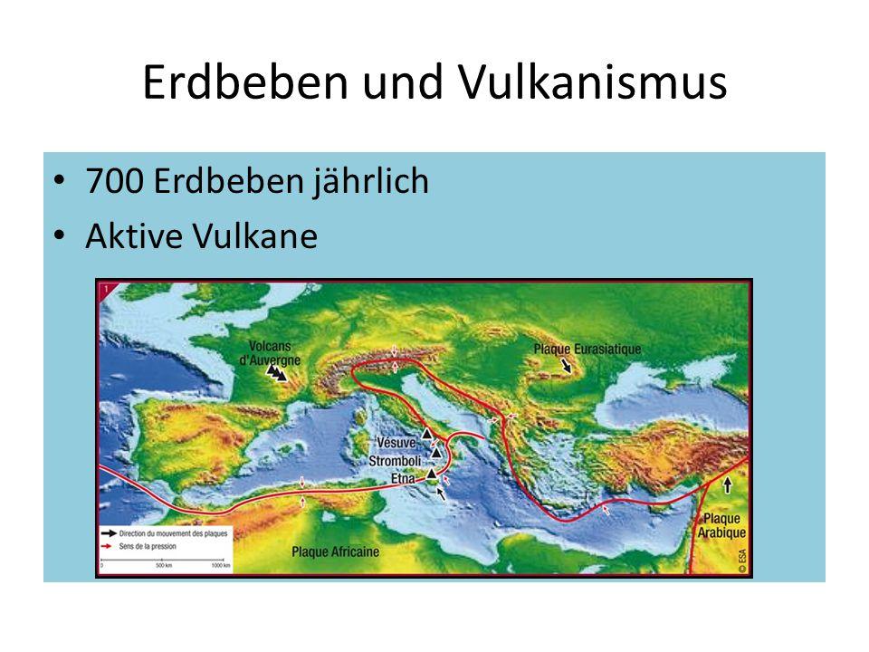 Erdbeben und Vulkanismus