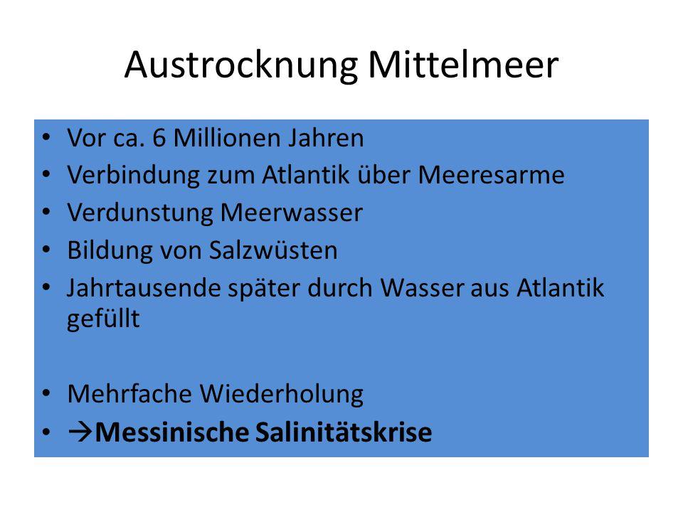 Austrocknung Mittelmeer