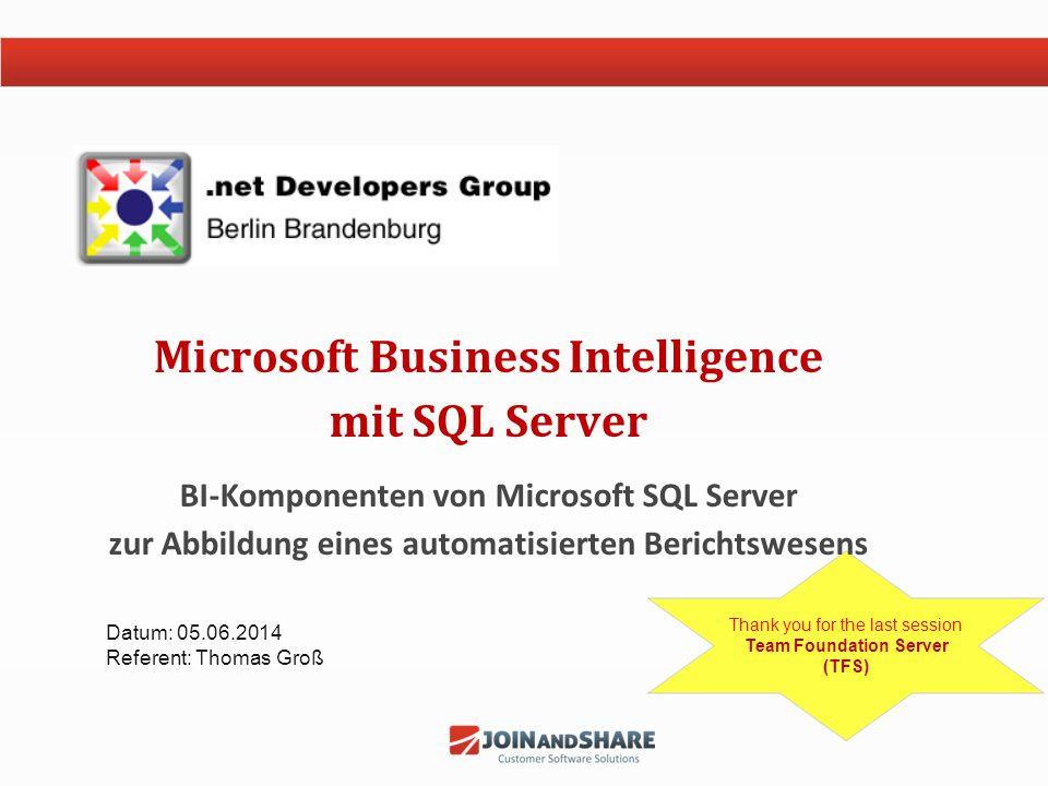 Microsoft Business Intelligence mit SQL Server