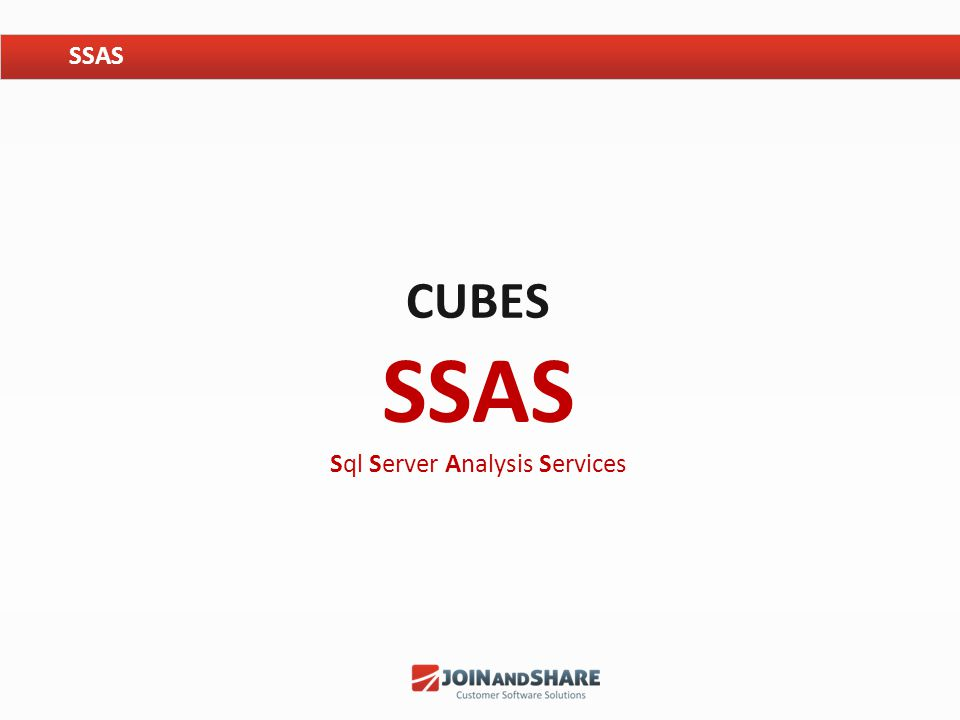 Cubes SSAS Sql Server Analysis Services