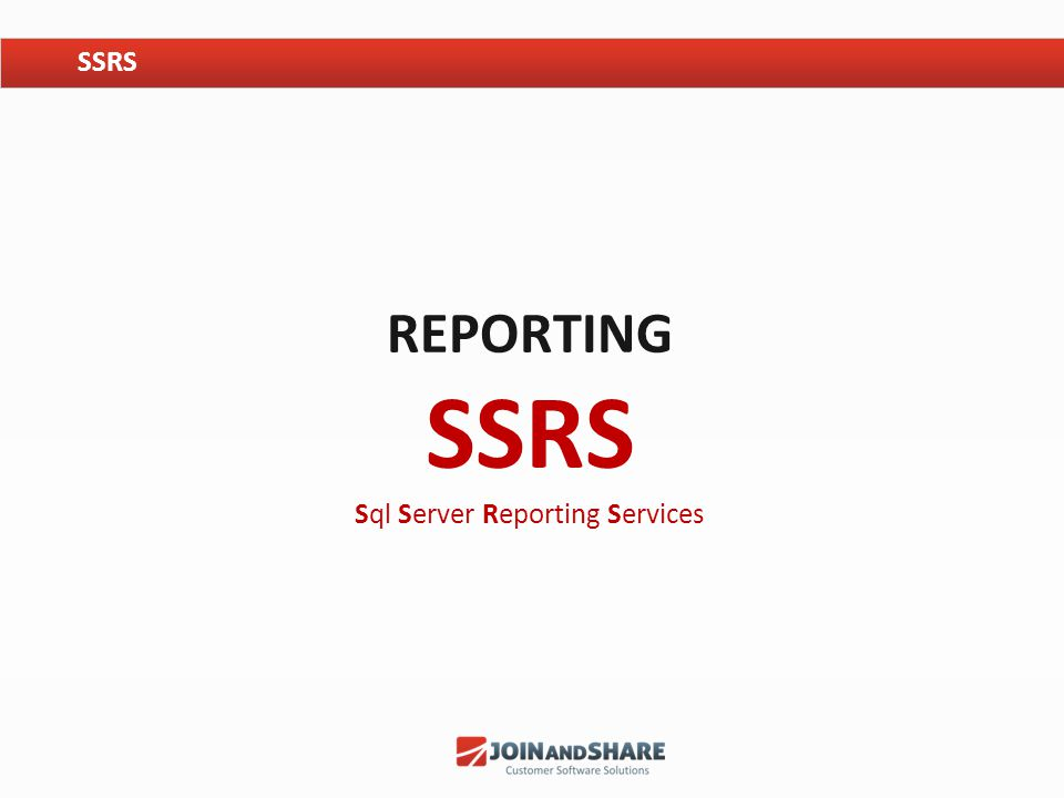 Reporting SSRS Sql Server Reporting Services
