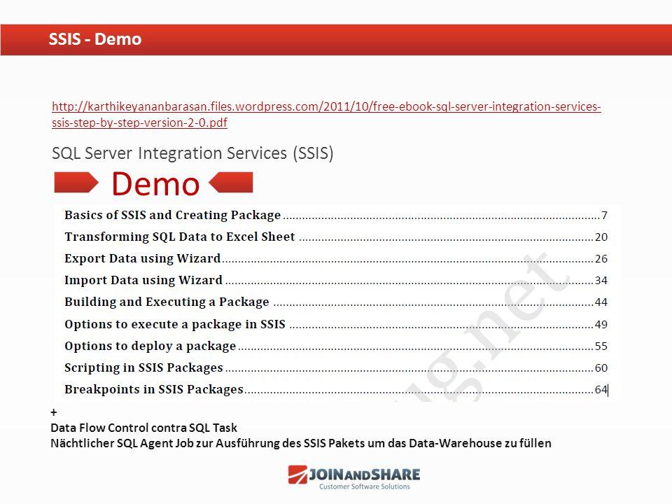 Demo SSIS - Demo SQL Server Integration Services (SSIS)