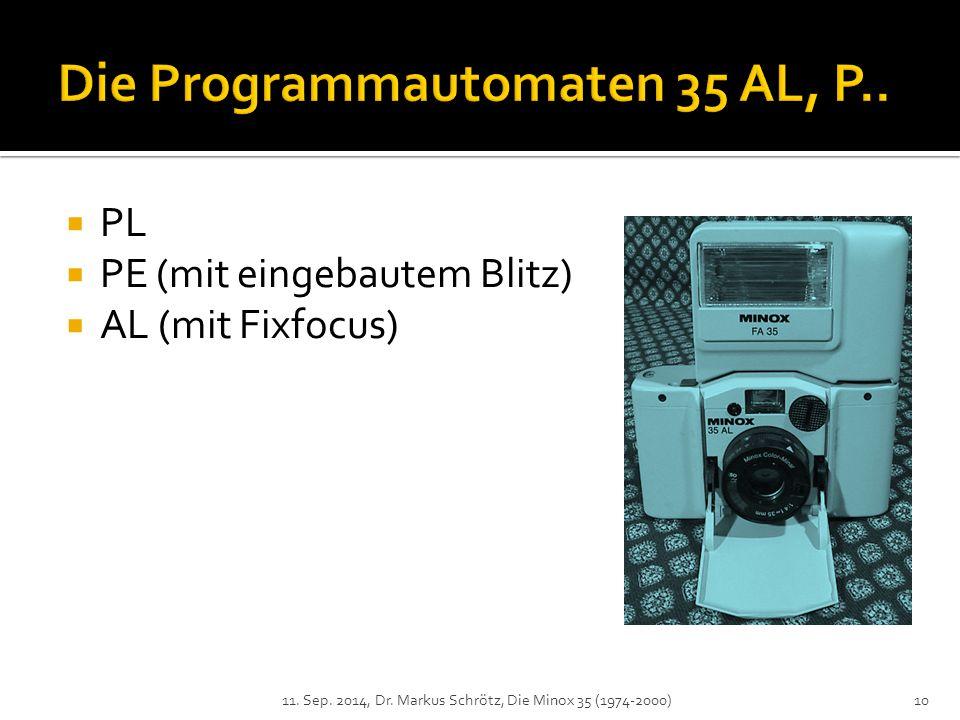 Die Programmautomaten 35 AL, P..