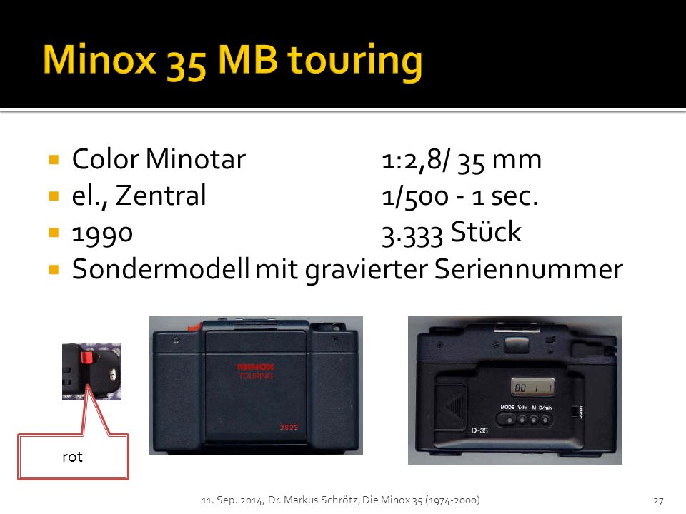 Minox 35 MB touring Color Minotar 1:2,8/ 35 mm