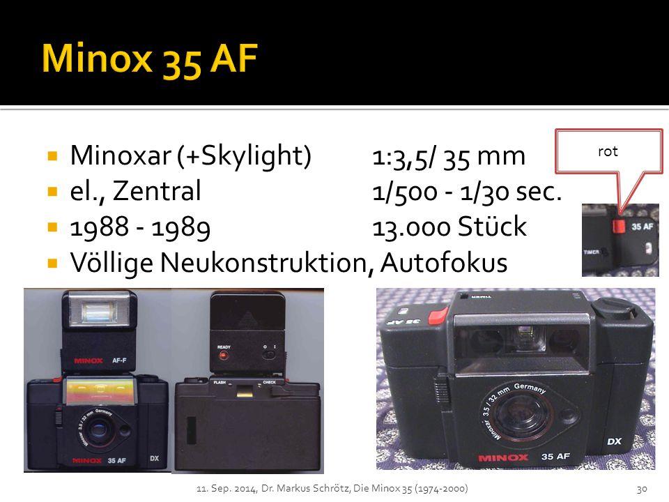 Minox 35 AF Minoxar (+Skylight) 1:3,5/ 35 mm
