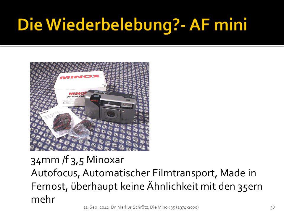 Die Wiederbelebung - AF mini