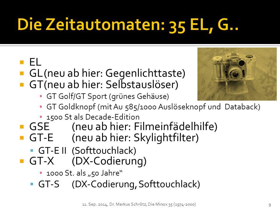 Die Zeitautomaten: 35 EL, G..