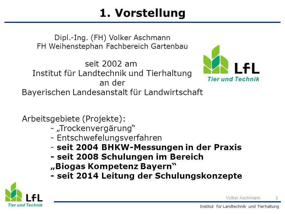1. Vorstellung seit 2002 am Institut für Landtechnik und Tierhaltung