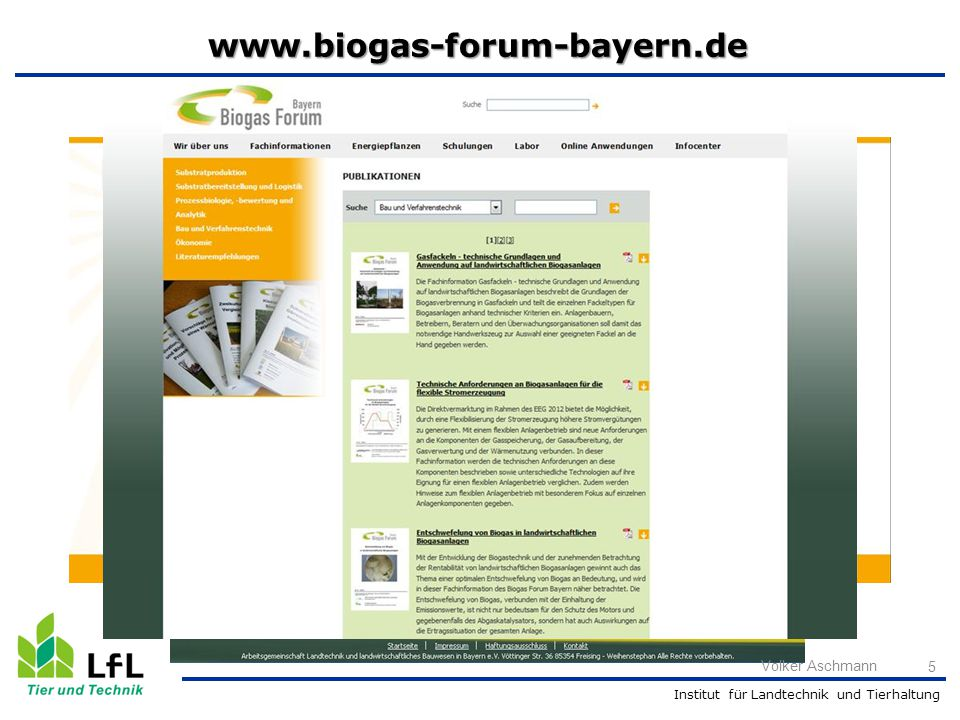 www.biogas-forum-bayern.de Volker Aschmann