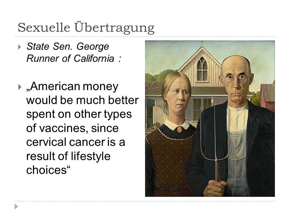 Sexuelle Übertragung State Sen. George Runner of California :