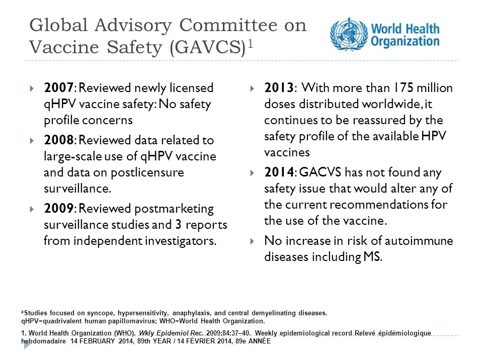 Global Advisory Committee on Vaccine Safety (GAVCS)1