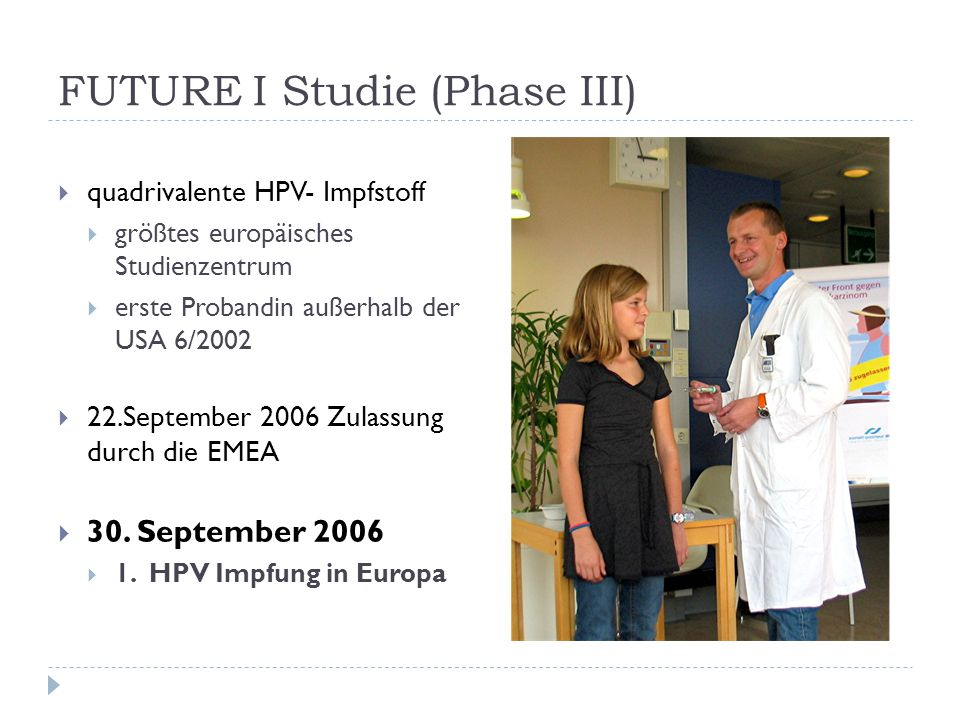 FUTURE I Studie (Phase III)