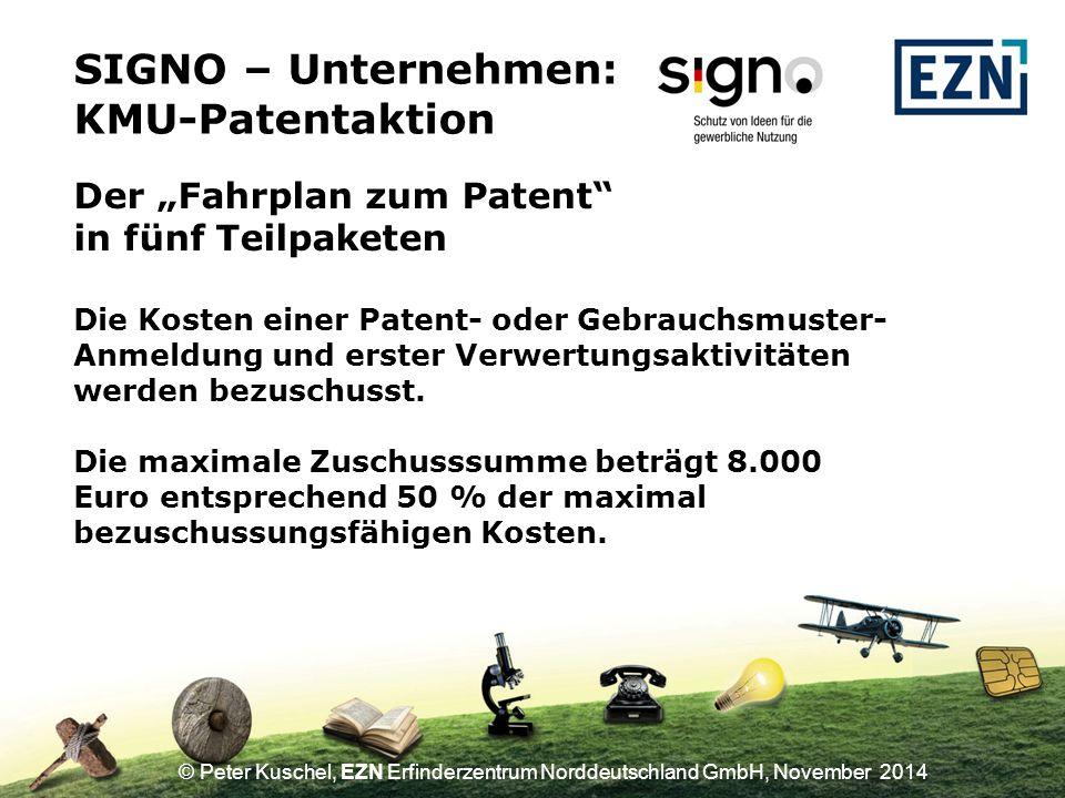 """SIGNO – Unternehmen: KMU-Patentaktion Der """"Fahrplan zum Patent"""