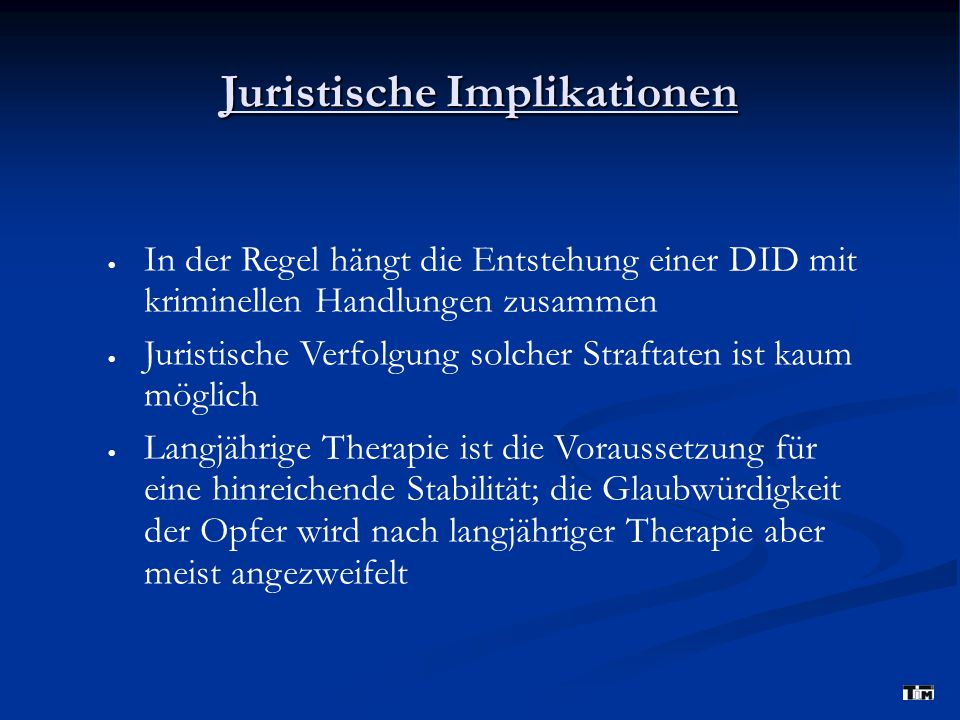 Juristische Implikationen