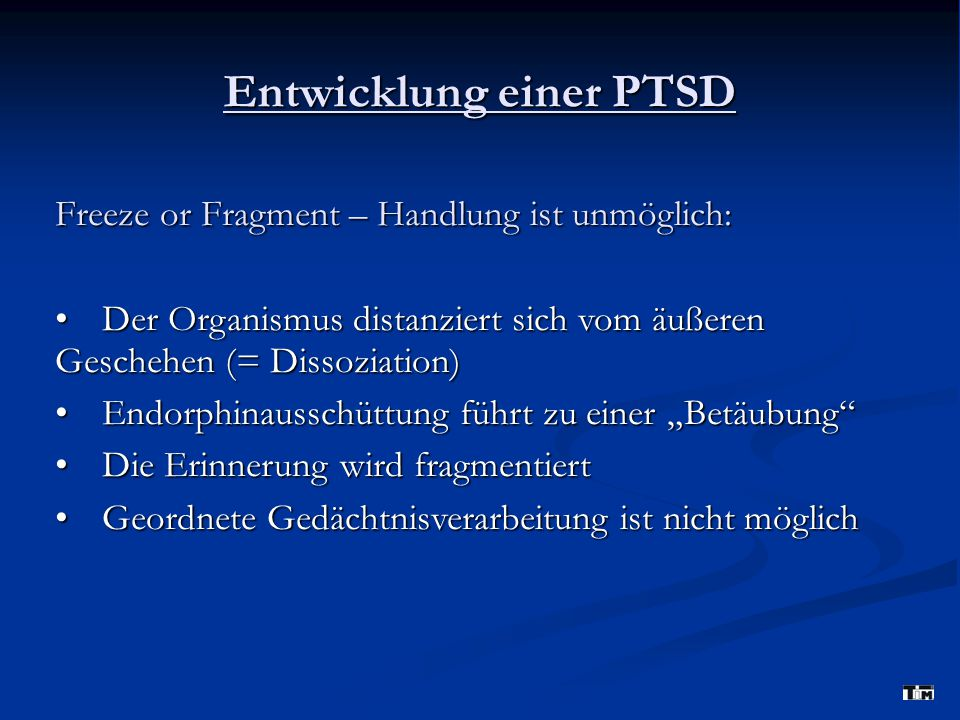 Entwicklung einer PTSD