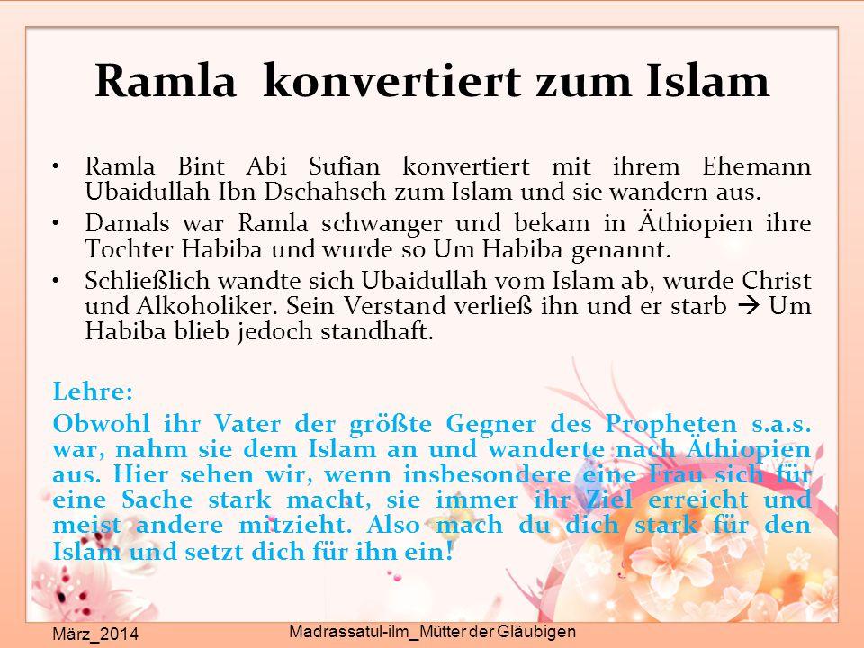 Ramla konvertiert zum Islam