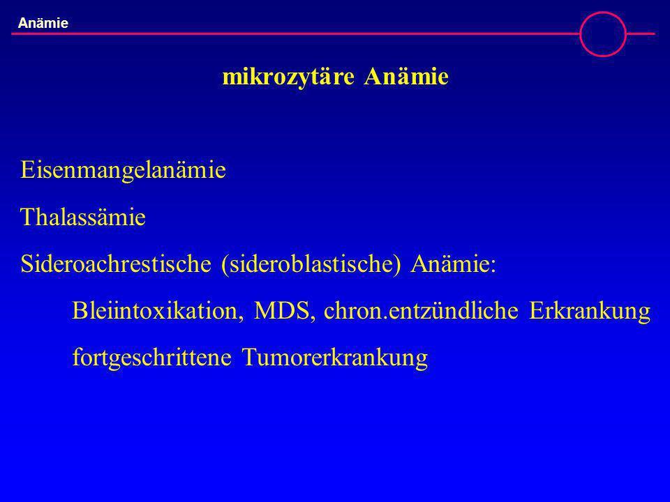 Sideroachrestische (sideroblastische) Anämie: