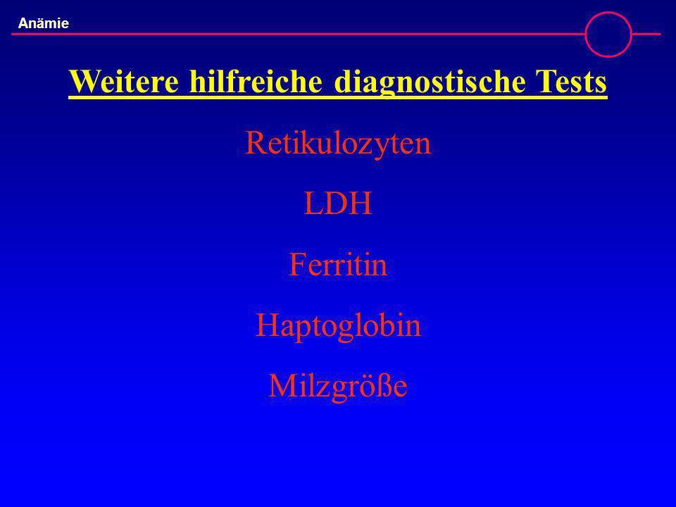 Weitere hilfreiche diagnostische Tests