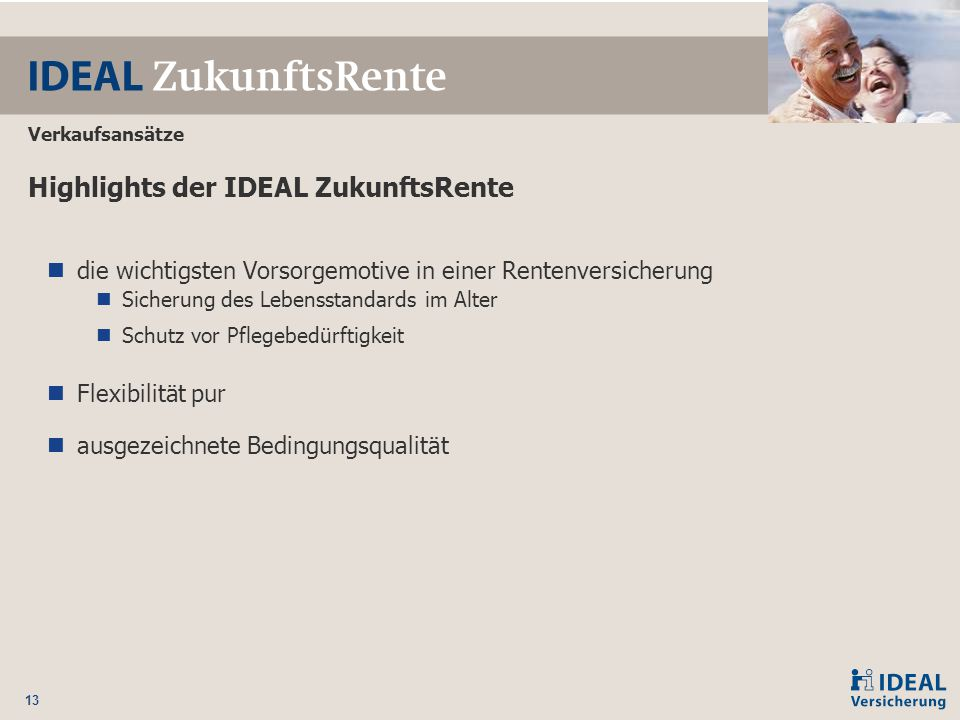 Highlights der IDEAL ZukunftsRente