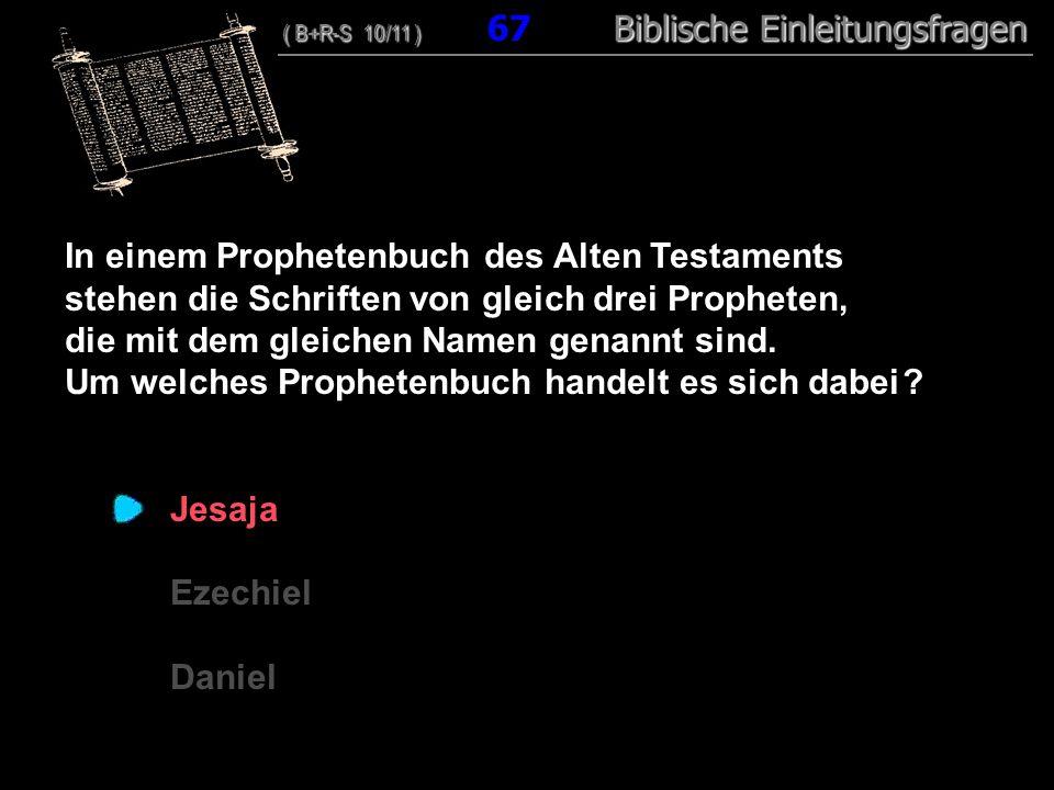 In einem Prophetenbuch des Alten Testaments