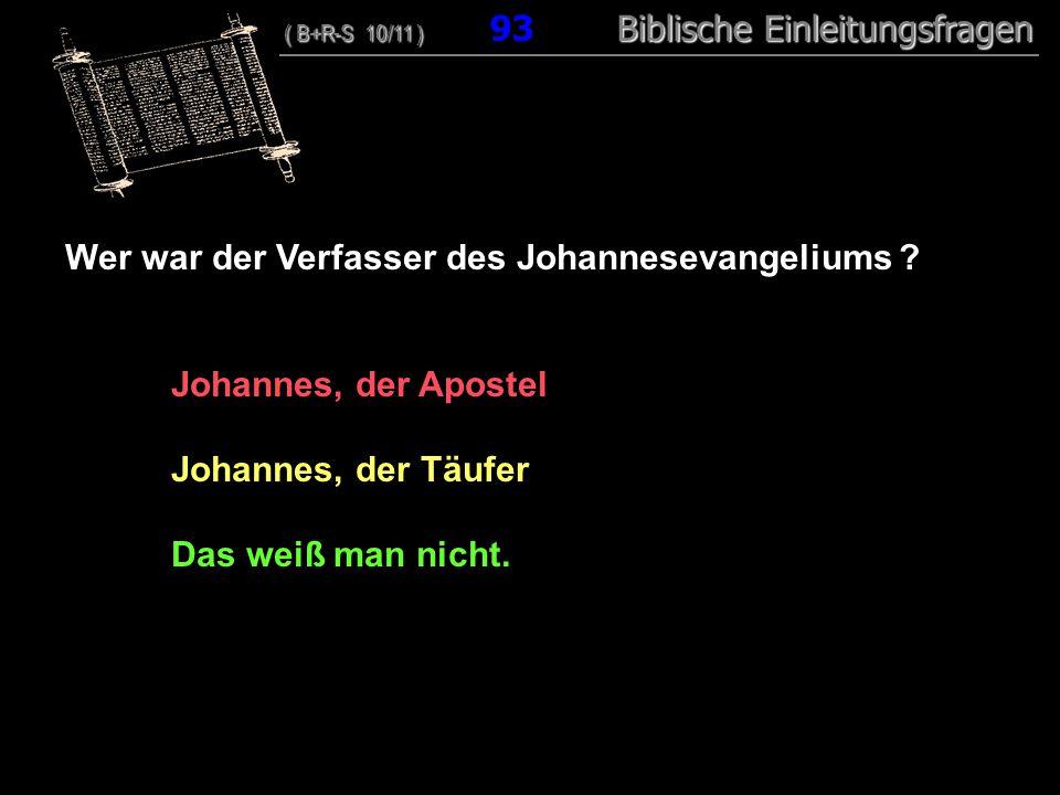 Wer war der Verfasser des Johannesevangeliums