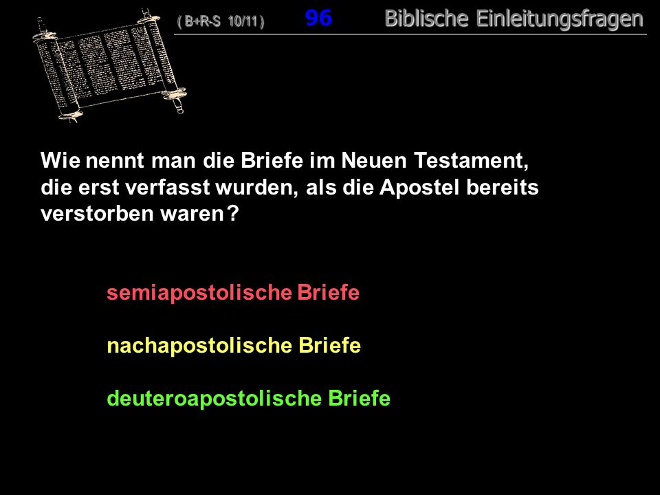 Wie nennt man die Briefe im Neuen Testament,