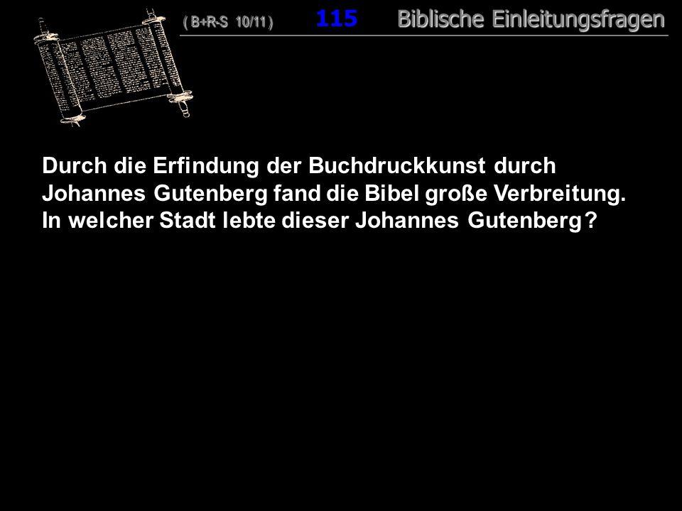 In welcher Stadt lebte dieser Johannes Gutenberg