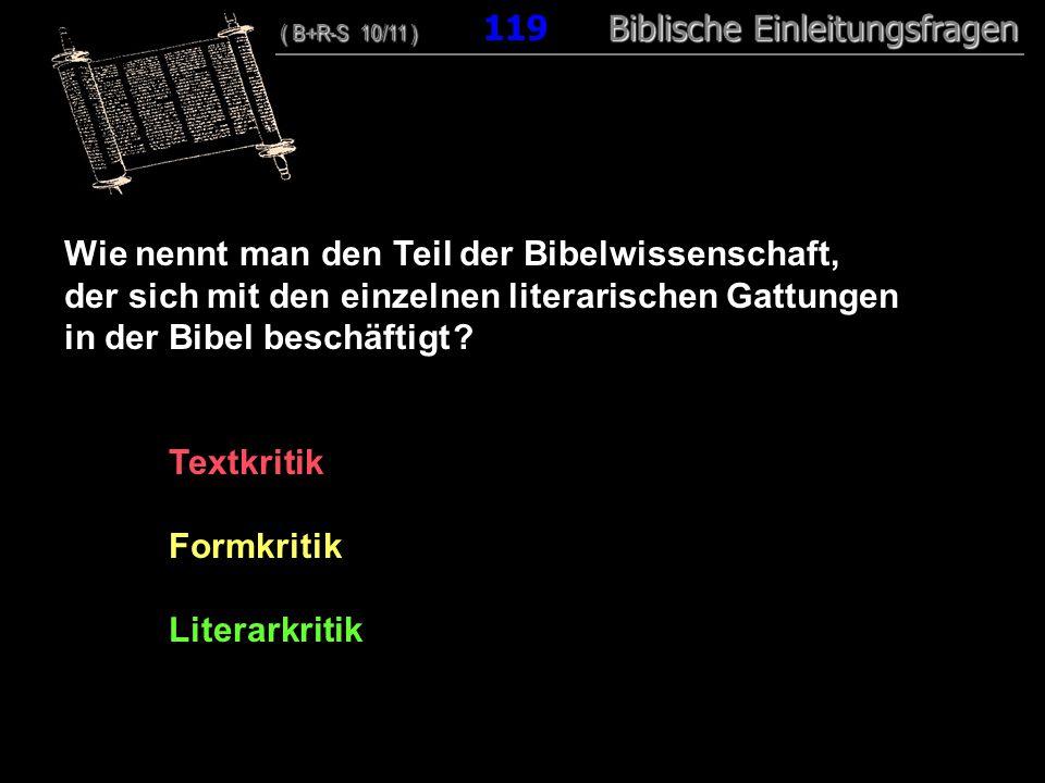 Wie nennt man den Teil der Bibelwissenschaft,