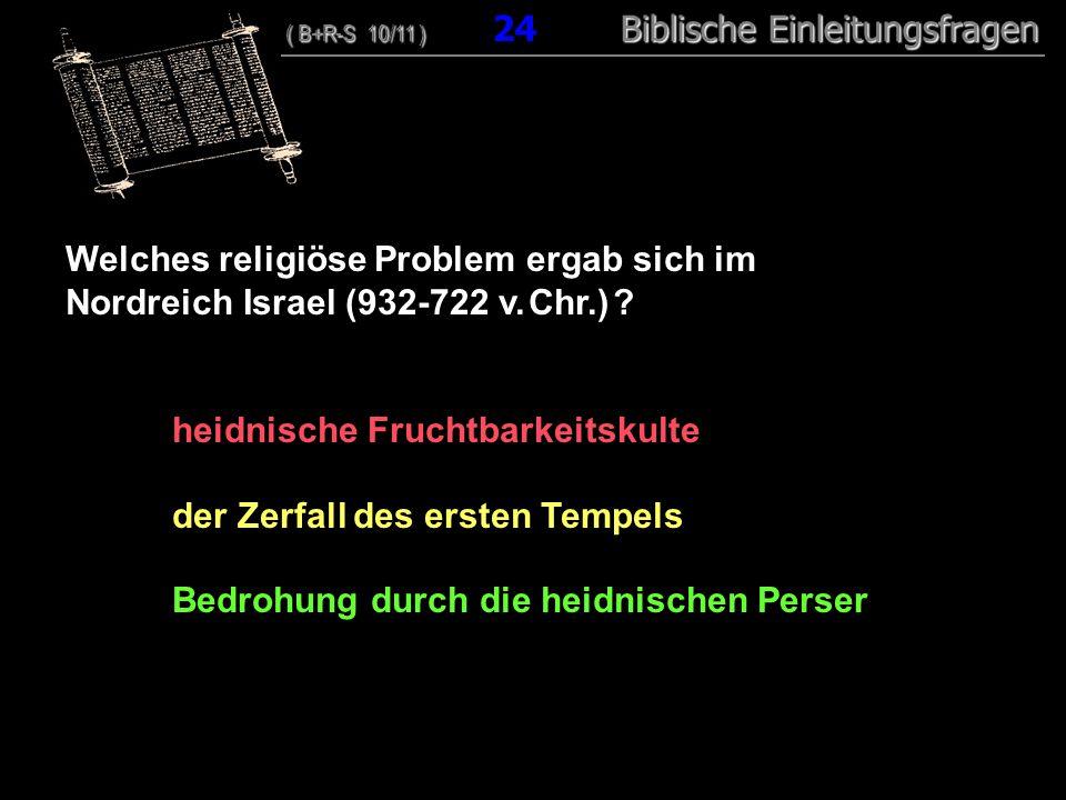 Welches religiöse Problem ergab sich im