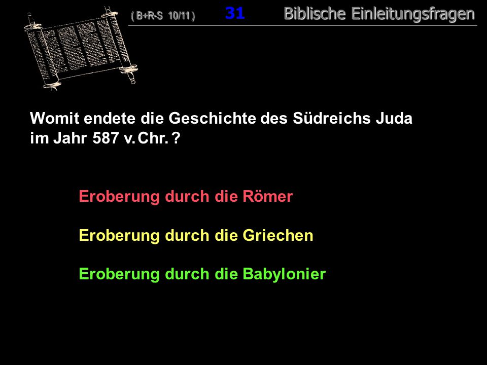 Womit endete die Geschichte des Südreichs Juda im Jahr 587 v. Chr.