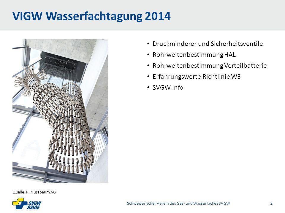 VIGW Wasserfachtagung 2014