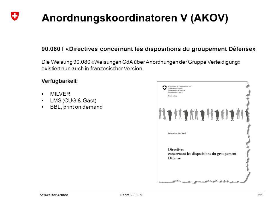 90.080 f «Directives concernant les dispositions du groupement Défense»