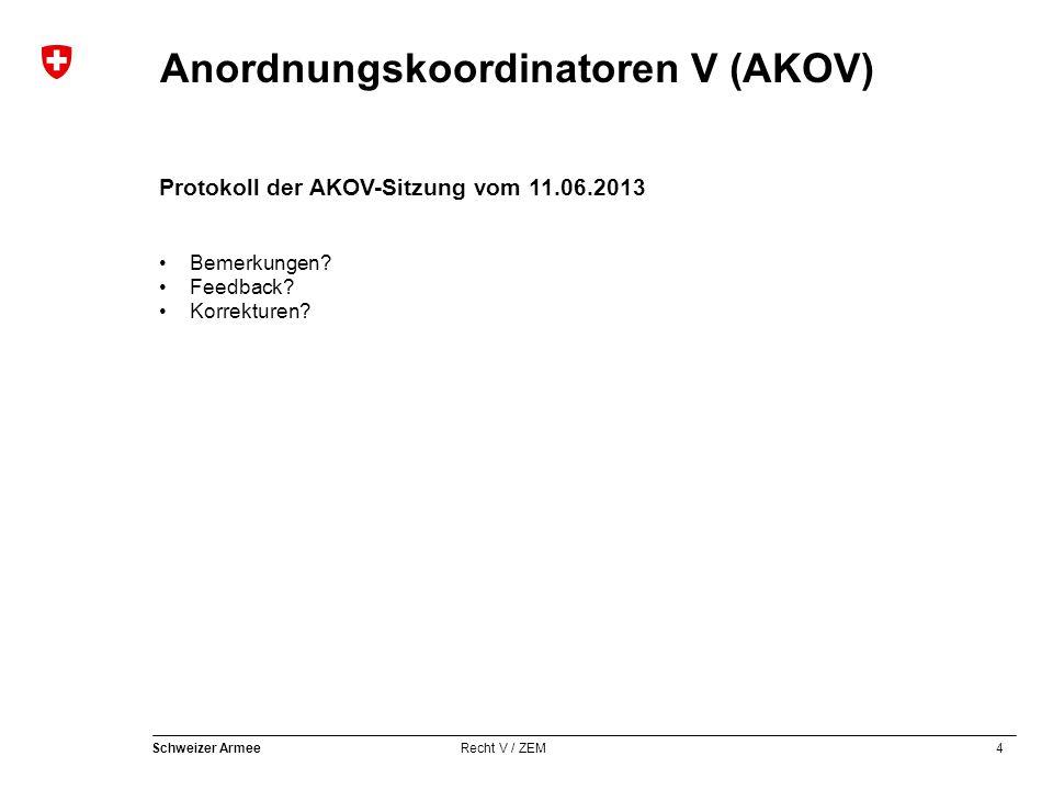 Protokoll der AKOV-Sitzung vom 11.06.2013