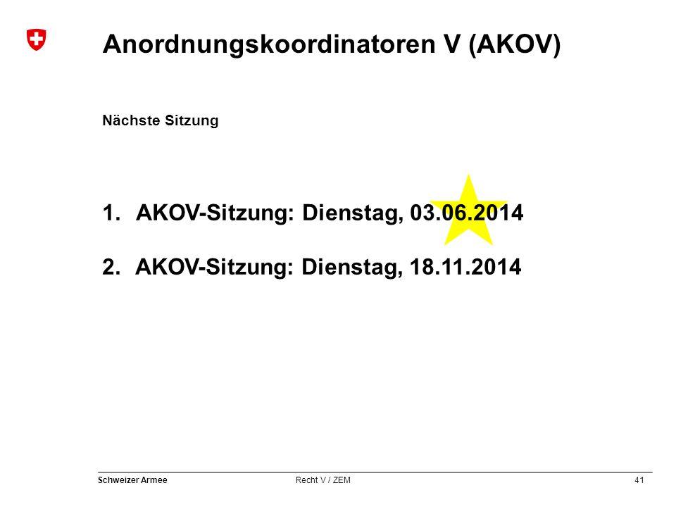 1. AKOV-Sitzung: Dienstag, 03.06.2014