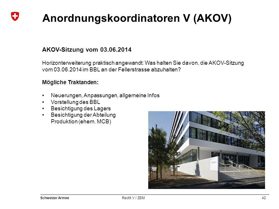 AKOV-Sitzung vom 03.06.2014